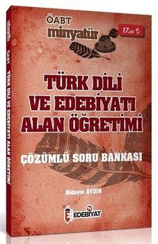 Edebiyat TV Yayınları 2020 ÖABT Türk Dili ve Edebiyatı MİNYATÜR Alan Öğretimi Soru Bankası