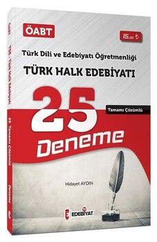 Edebiyat TV Yayınları ÖABT Türk Dili Edebiyatı Türk Halk Edebiyatı 25 Deneme Çözümlü