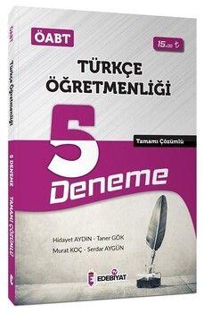 Edebiyat TV Yayınları 2020 ÖABT Türkçe Öğretmenliği 5 Deneme Çözümlü