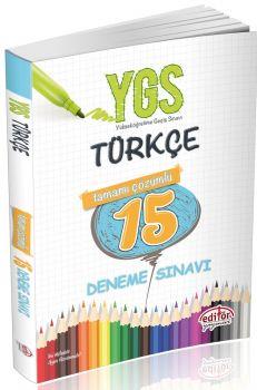 Editör Yayınları YGS Türkçe 15 Deneme Sınavı