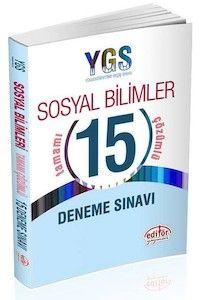 Editör Yayınları YGS Sosyal Bilimler 15 Çözümlü Deneme Sınavı