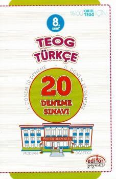 Editör Yayınları 8. Sınıf TEOG Türkçe 20 Deneme Sınavı
