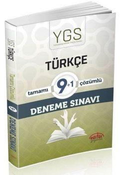 Editör Yayınları YGS Türkçe 9+1 Çözümlü Deneme Sınavı