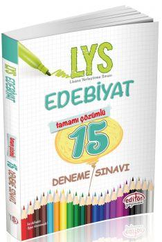 Editör Yayınları LYS Edebiyat 15 Çözümlü Deneme Sınavı 15\'li