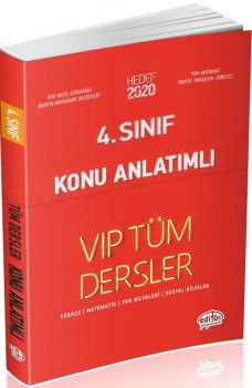 Editör Yayınları 4. Sınıf Tüm Dersler VIP Konu Anlatımlı Kırmızı Kitap