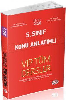 Editör Yayınları 5. Sınıf Tüm Dersler VIP Konu Anlatımlı Kırmızı Kitap