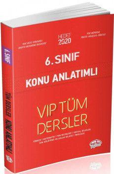 Editör Yayınları 6. Sınıf Tüm Dersler VIP Konu Anlatımlı Kırmızı Kitap