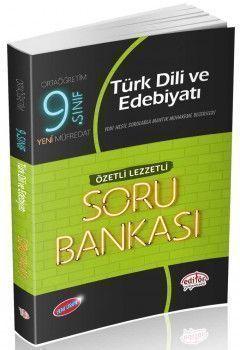 Editör Yayınları 9. Sınıf Türk Dili ve Edebiyatı Özetli Lezzetli Soru Bankası