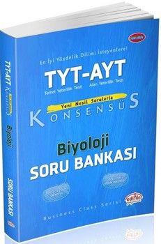 Editör Yayınları TYT AYT Biyoloji Konsensüs Soru Bankası
