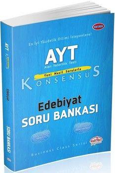 Editör Yayınları AYT Edebiyat Konsensüs Soru Bankası