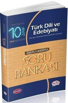 Editör Yayınları 10. Sınıf Türk Dili ve Edebiyatı Özetli Lezzetli Soru Bankası
