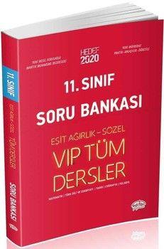 Editör Yayınları 11. Sınıf Vip Tüm Dersler Eşit Ağırlık Sözel Soru Bankası