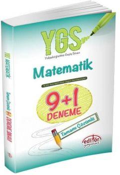 Editör Yayınları YGS Matematik 9+1 Çözümlü Deneme Sınavı