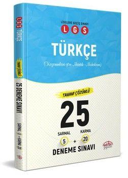 Editör Yayınları LGS Türkçe 5 Sarmal + 20 Karma 25 Deneme Sınavı