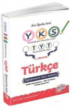Editör Yayınları YKS 1. Oturum TYT Türkçe Öğretmenin Ders Notları