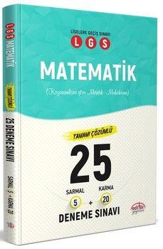 Editör Yayınları LGS Matematik 25 Deneme Sınavı