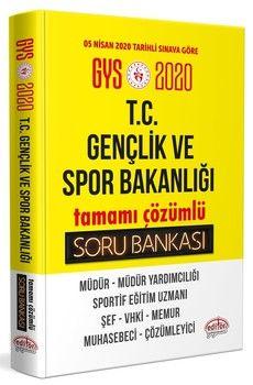 Editör Yayınları 2020 GYS T.C. Gençlik ve Spor Bakanlığı Tamamı Çözümlü Soru Bankası