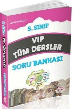 Editör Yayınları 5. Sınıf VIP Tüm Dersler Soru Bankası