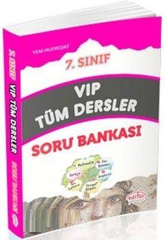 Editör Yayınları 7. Sınıf VİP Tüm Dersler Soru Bankası