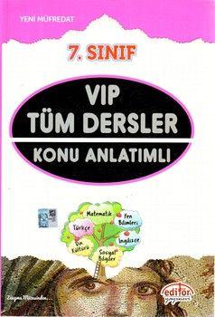 Editör Yayınları 7. Sınıf VIP Tüm Dersler Konu Anlatımlı