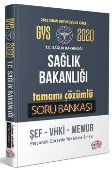 Editör Yayınları 2020 GYS Sağlık Bakanlığı ve Bağlı Kuruluşları Tamamı Çözümlü Soru Bankası