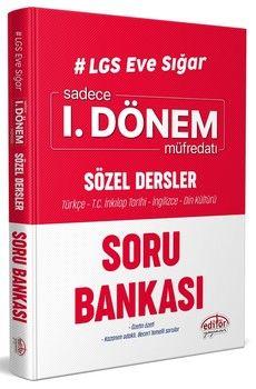 Editör Yayınları 8. Sınıf LGS Eve Sığar Sözel Dersler 1. Dönem Müfredatı Soru Bankası