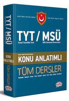 Editör Yayınları TYT MSÜ Tüm Dersler Konu Anlatımlı