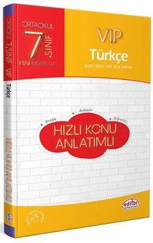 Editör Yayınları 7. Sınıf Türkçe VIP Hızlı Konu Anlatımlı