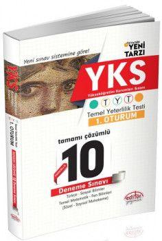 Editör Yayınları YKS 1. Oturum TYT Fasikül Tamamı Çözümlü 10 Deneme Sınavı