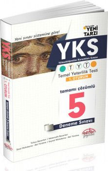 Editör Yayınları YKS 1. Oturum TYT Tamamı Çözümlü 5 Deneme Sınavı