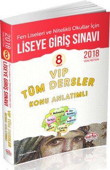 Editör Yayınları 8. Sınıf Liseye Geçiş Sınavı VIP Tüm Dersler Konu Anlatımlı