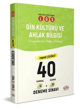 Editör Yayınları 8. Sınıf LGS Din Kültürü ve Ahlak Bilgisi 40 Deneme Sınavı