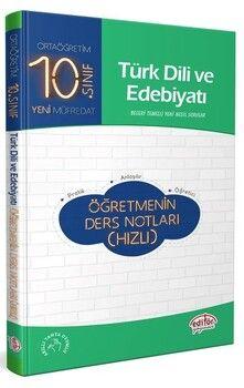 Editör Yayınları 10. Sınıf Türk Dili ve Edebiyatı Öğretmenin Ders Notları Hızlı
