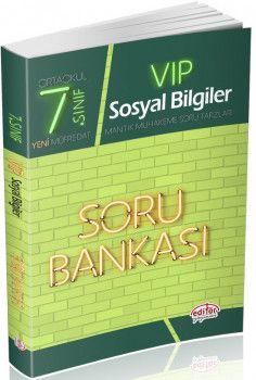Editör Yayınları 7. Sınıf Vip Sosyal Bilgiler Soru Bankası