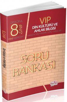 Editör Yayınları 8. Sınıf Vip Din Kültürü ve Ahlak Bilgisi Soru Bankası