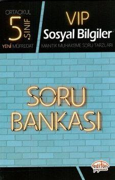 Editör Yayınları 5. Sınıf Vip Sosyal Bilgiler Soru Bankası