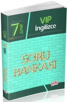 Editör Yayınları 7. Sınıf Vip İngilizce Soru Bankası