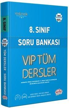 Editör Yayınları 8. Sınıf VİP Tüm Dersler Soru Bankası