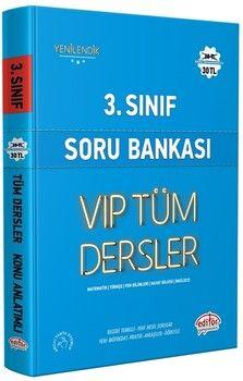 Editör Yayınları 3. Sınıf VİP Tüm Dersler Soru Bankası
