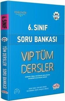 Editör Yayınları 6. Sınıf VİP Tüm Dersler Soru Bankası