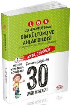 Editör Yayınları 8. Sınıf LGS Din Kültürü ve Ahlak Bilgisi 30 Deneme Sınavı