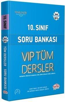 Editör Yayınları 10. Sınıf VİP Tüm Dersler Soru Bankası