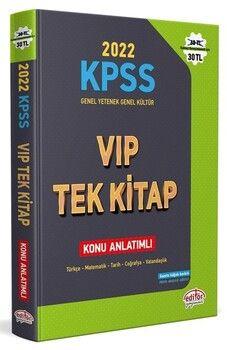 Editör Yayınları 2022 KPSS Genel Yetenek Genel Kültür VIP Tek Kitap Konu Anlatımlı