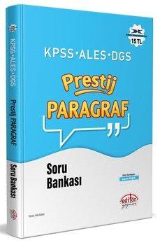 Editör Yayınları KPSS ALES DGS Paragraf Prestij Soru Bankası