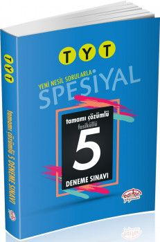 Editör Yayınları TYT Spesiyal 5 li Deneme Sınavı