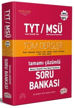 Editör Yayınları TYT MSÜ Tüm Dersler Soru Bankası