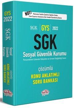 Editör Yayınları 2022 GYS Sosyal Güvenlik Kurumu Tamamı Çözümlü Konu Anlatımlı Soru Bankası