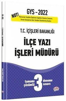 Editör Yayınları 2022 GYS İçişleri Bakanlığı İlçe Yazı İşleri Müdürü 3 Deneme