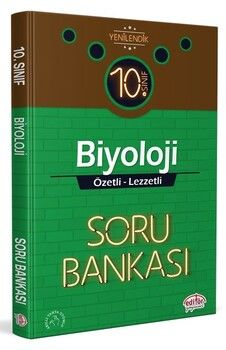 Editör Yayınları 10. Sınıf Biyoloji Özetli Lezzetli Soru Bankası