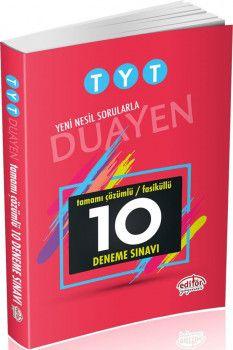 Editör Yayınları TYT Duayen Tamamı Çözümlü Fasiküllü 10 Deneme Sınavı